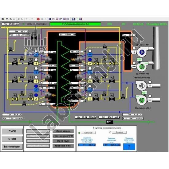 Типовой комплект учебного оборудования «Применение средств автоматизации и диспетчеризации в тепловых пунктах систем централизованного теплоснабжения зданий»