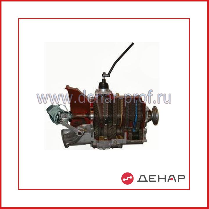 Трехвальная коробка передач грузового автомобиля (ЗИЛ) с электромеханическим приводом