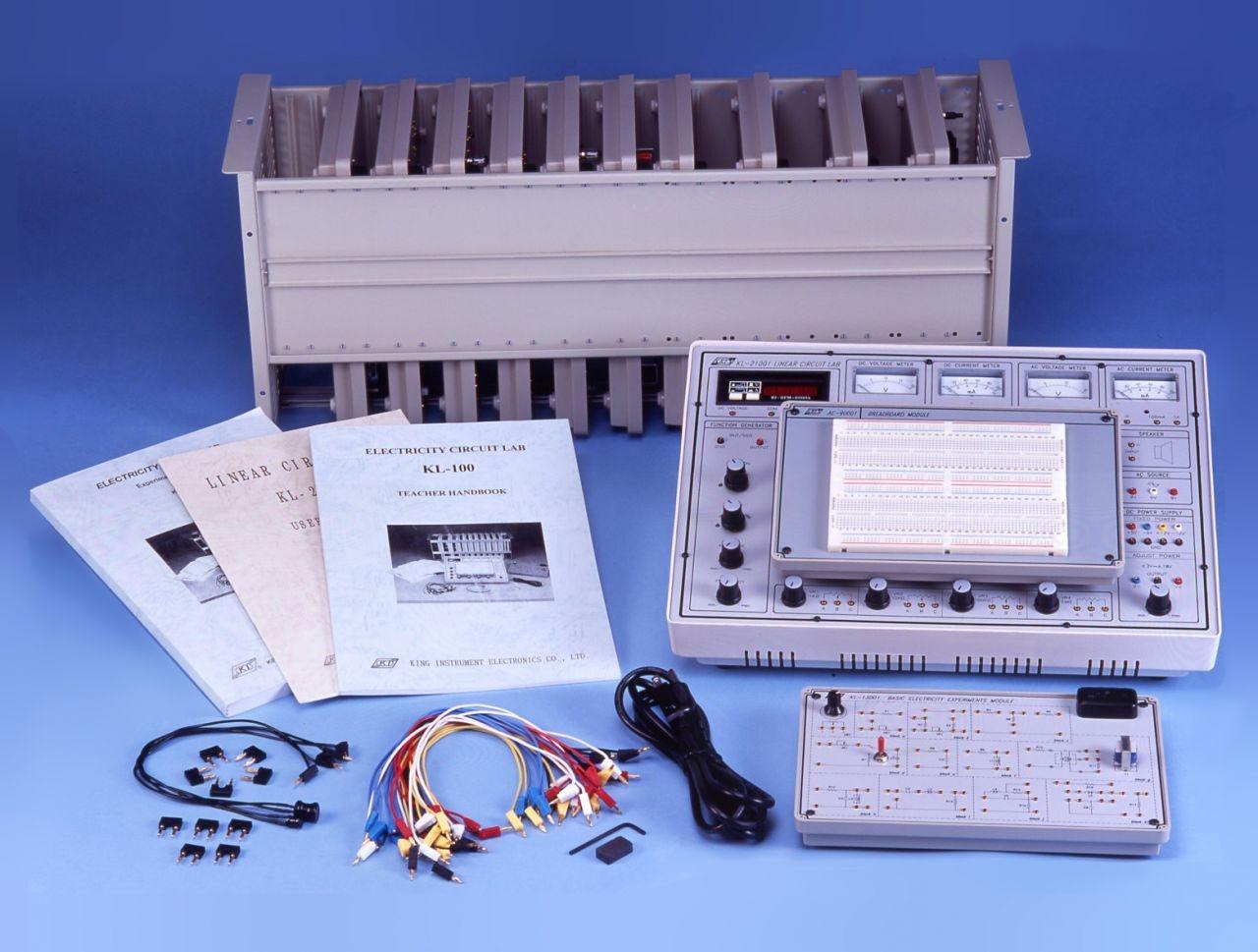 KL-100 Рабочее место студента для сборки и изучения электрических цепей