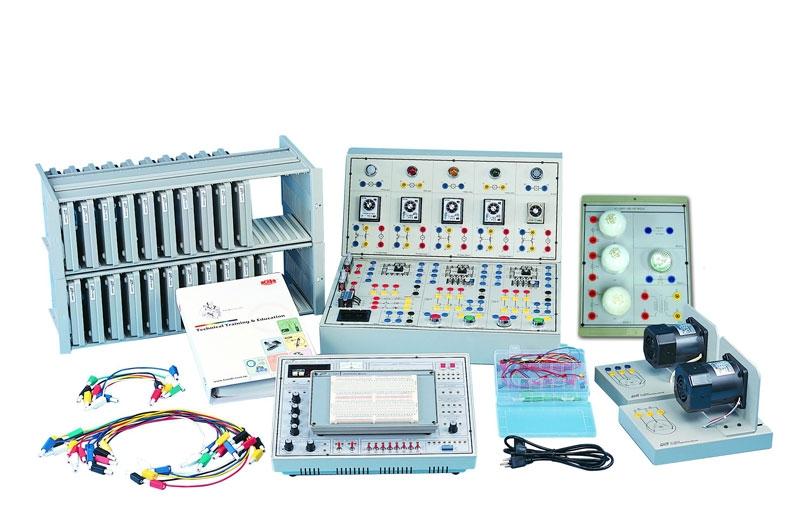 KL-210 Рабочее место студента для сборки электрических и силовых цепей, аналоговых и цифровых электронных схем