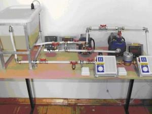 Установка для исследования характеристик работы насосов и режимов работы их на сеть М-СГ-02