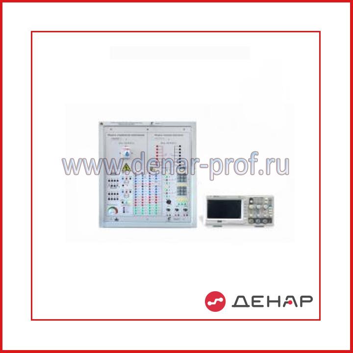Типовой комплект учебного оборудования  «Основа электронных систем на базе микроконтроллера», 1-секционный с аналоговым осциллографом стационарное исполнение со столом  ОЭСБМ-1-С-АО