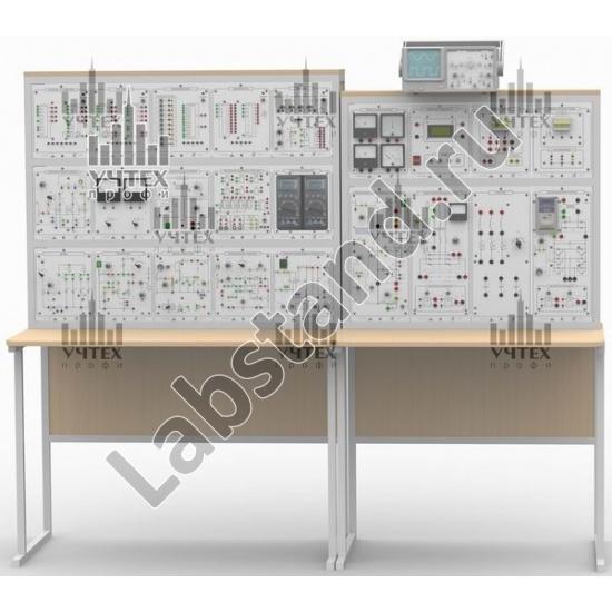 """Типовой комплект учебного оборудования """"Промышленная электроника-2"""", исполнение стендвое ручное с осциллографом, ПЭ2-СРА"""