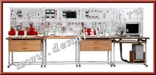 Модель одномашинной электрической системы с узлом комплексной нагрузки, релейной защитой и автоматикой ЭЭ1-НЗА-С-К