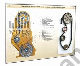 """Стенд-планшет """"Привод распеделительного вала автомобиля ВАЗ-2108-09"""""""