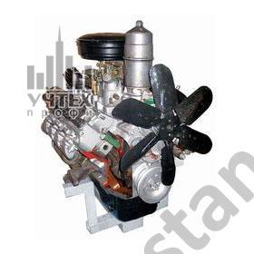 02.06.04.1 Двигатель грузового автомобиля ГАЗ 51 - 53 с навесным оборудованием (агрегаты в разрезе) с электромеханическим приводом