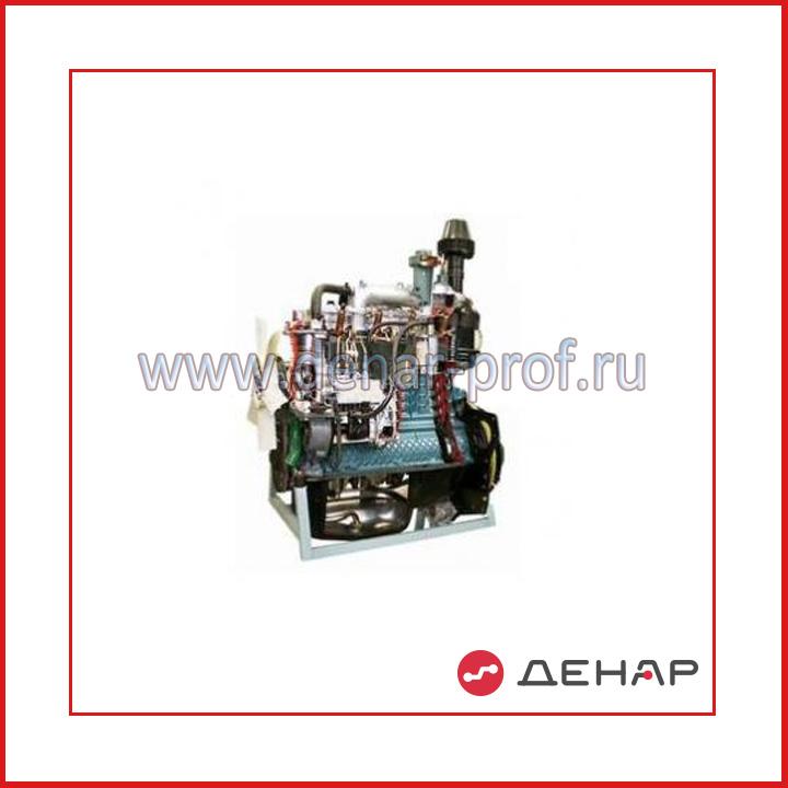 Двигатель дизельный трактора МТЗ-80-82 с навесным оборудованием (агрегаты в разрезе)